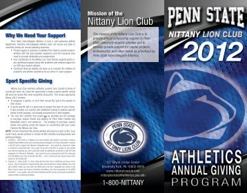 2012 Nittany Lion Club Brochure - Community