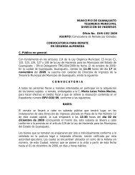 MUNICIPIO DE GUANAJUATO TESORERIA MUNICIPAL ...