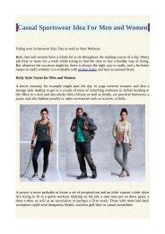Casual Sportswear Idea For Men and Women
