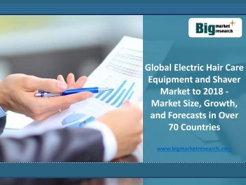 Electric Hair Care Equipment and Shaver Market at Global Lavel to 2018