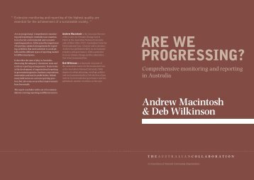 Are we progressing? - Getting to Sustainability