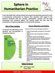 Facilitating Humanitarianism Sphere in Humanitarian Practice