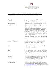 MERRITT 7 CORPORATE PARK FITNESS CENTER GUIDELINES ...