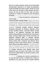 Acta de la sesión ordinaria número 46 del Honorable ... - Guanajuato