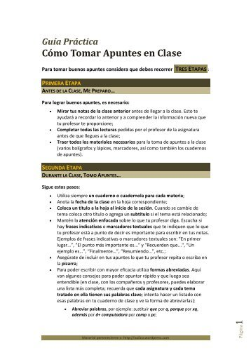 Guía Práctica para Tomar Apuntes en Clase - Áulico