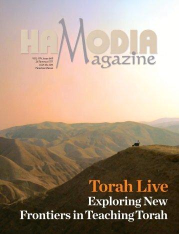 Torah Live in HaModia Magazine
