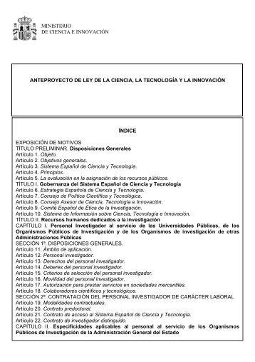 Resoluci n ministerio de ciencia e innovaci n for Ministerio de innovacion