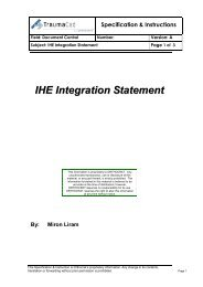 IHE Integration Statement - IHE in Europe