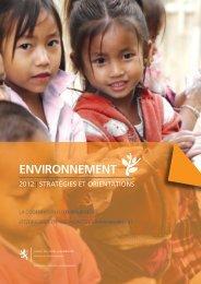 ENVIRONNEMENT - Coopération et action humanitaire - Ministère ...