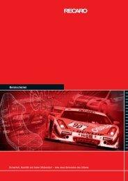 Katalog Recaro Rennschalen (PDF) - BSA Motorsport