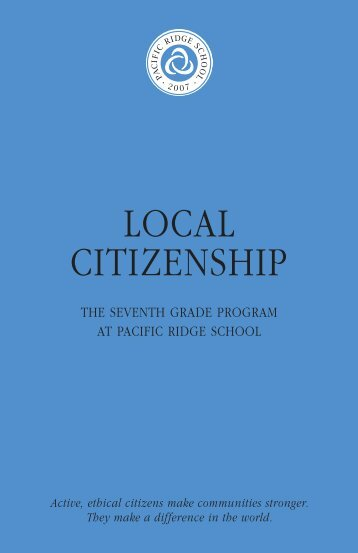 LOCAL CITIZENSHIP - Pacific Ridge School