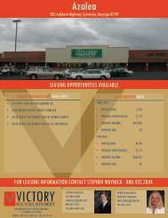 azalea plaza - victory real estate investments llc
