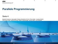 Parallele Programmierung - Native  Systems Group