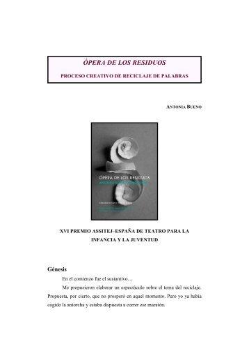 Testimonio de Antonia Bueno - Anagnórisis