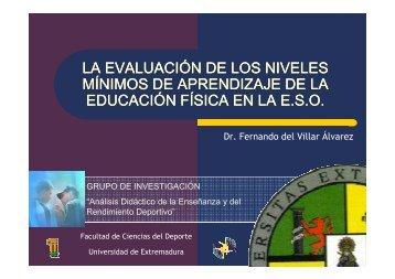 3 – la evaluación de los niveles mínimos en educación física