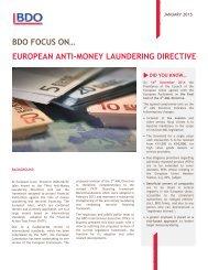 BDO FOCUS ON -  Anti Money Laundering