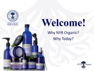 Why NYR Organic? Why Today? - Direction Towards Better Health