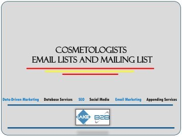 Permission based cosmetologists email list for improving ROI and profits