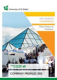 HSG TALENTS Conference 2015 - Company Profiles