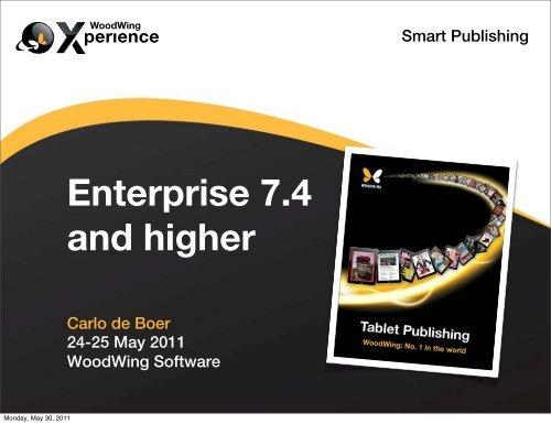 Smart Publishing Carlo de Boer 24-25 May 2011 WoodWing Software