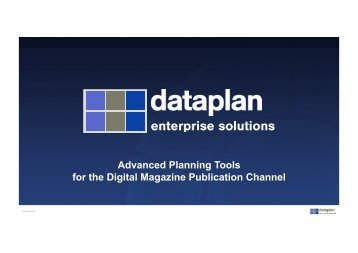 Advanced Planning Tools for the Digital Magazine Publication ...