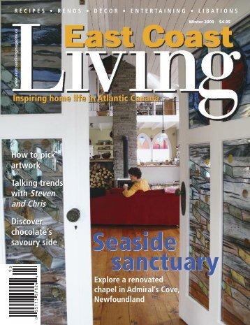 East Coast Living Magazine Article - Acorn Timber Frames Ltd.