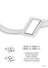Návod solární kolektory SB+ šikmá střecha nastavitelné ... - Baxi