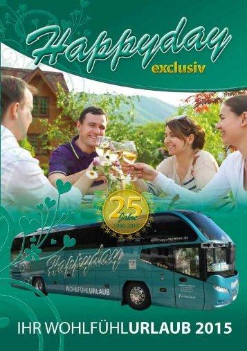 Reisekatalog Reisebüro Happyday Niederwiesa 2015