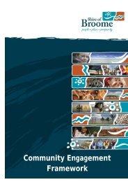 Community Engagement Framework - Shire of Broome