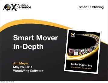 Smart Mover Overview (cont.) - WoodWing Community Site