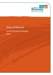 Draft Local Planning Strategy 2013 - Shire of Broome