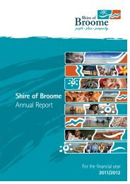 What is the Annual Report? - Shire of Broome