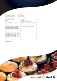 Banquets – buffets