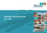 Strategic Community Plan 2013 - Shire of Broome - The Western ...