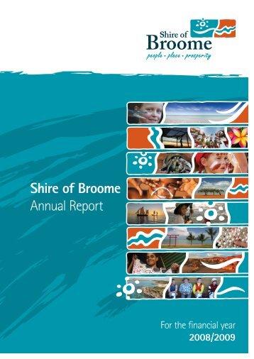 Annual Report 2008 - Shire of Broome