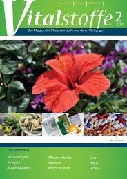Vitalstoffe – Das Magazin für Mikronährstoffe und deren Wirkungen