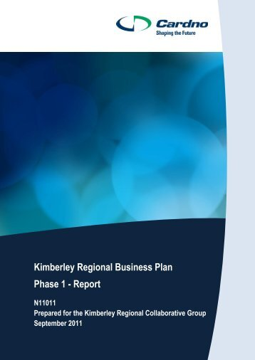 Kimberley Regional Business Plan Phase 1 - Report - Shire of Broome