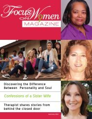 Confessions of a Sister Wife - Focus on Women Magazine