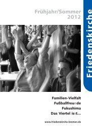 Unsere Gottesdienste - Evangelische Friedensgemeinde Bremen
