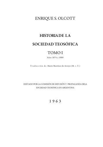 Historia de la Sociedad Teosófica Tomo 1