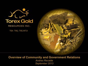Community Relations - Torex Gold Resources Inc.
