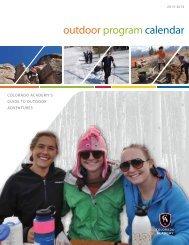2013-2014 CA Outdoor Program Calendar - Colorado Academy