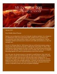 Middle School Interim Catalog - Colorado Academy