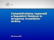 Competitivitatea regională a Republicii Moldova în ... - Bis.md