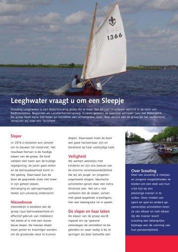 Leeghwater vraagt u om een Sleepje
