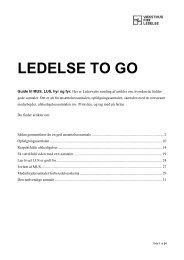 LEDELSE TO GO - gode samtaler