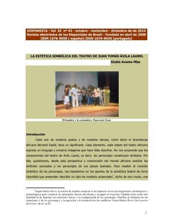1 HISPANISTA - Vol XI nº 43 - octubre - noviembre - diciembre de de ...