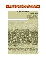 Nos Rastros da utopia - Revista Hispanista