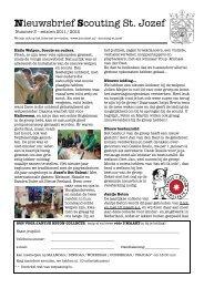 Nieuwsbrief Scouting St. Jozef - ScoutNet Nederland