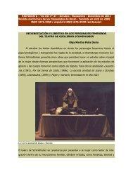 eivindicación y libertad en los personajes femeninos del teatro de ...